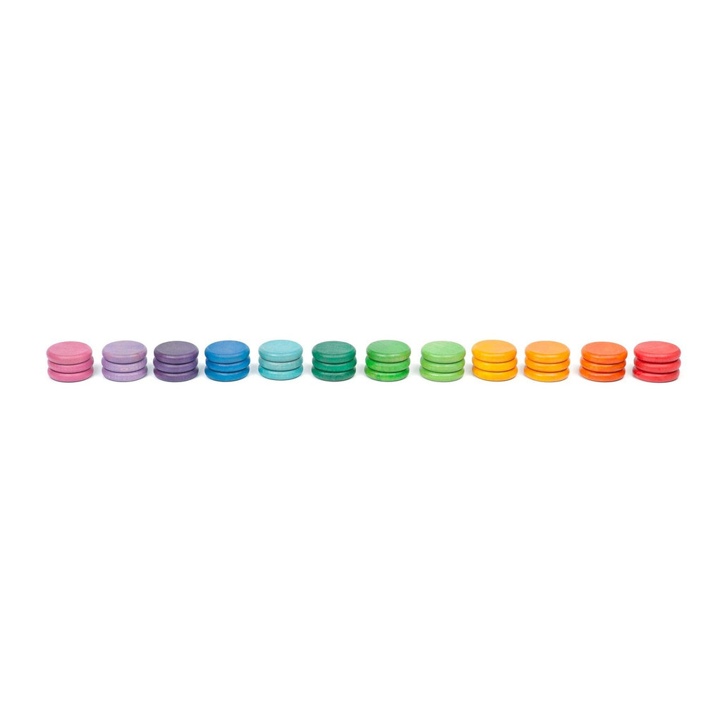 Grapat Coloured Coins set of 36 in 12 Colours - Grapat - The Creative Toy Shop