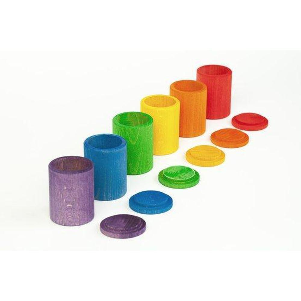 Grapat Colours Cups with Lids-Building Accessories-The Creative Toy Shop