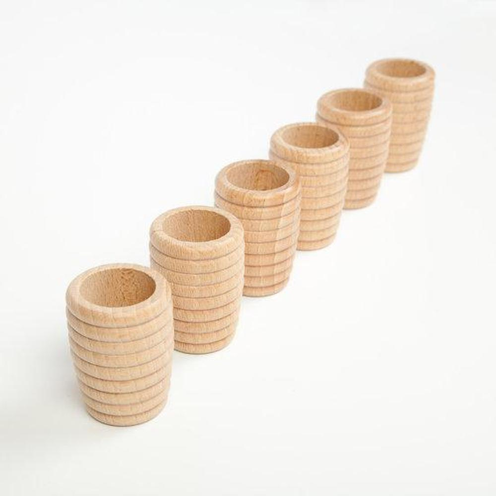 Grapat Honeycomb Beakers - Natural-Building Accessories-The Creative Toy Shop