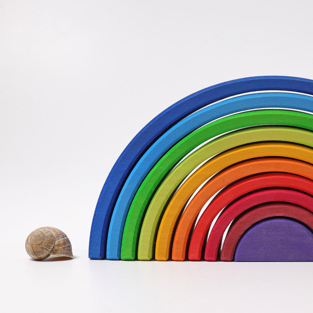 Grimm's 10 Piece Sunset Rainbow - Grimm's Spiel and Holz Design - The Creative Toy Shop