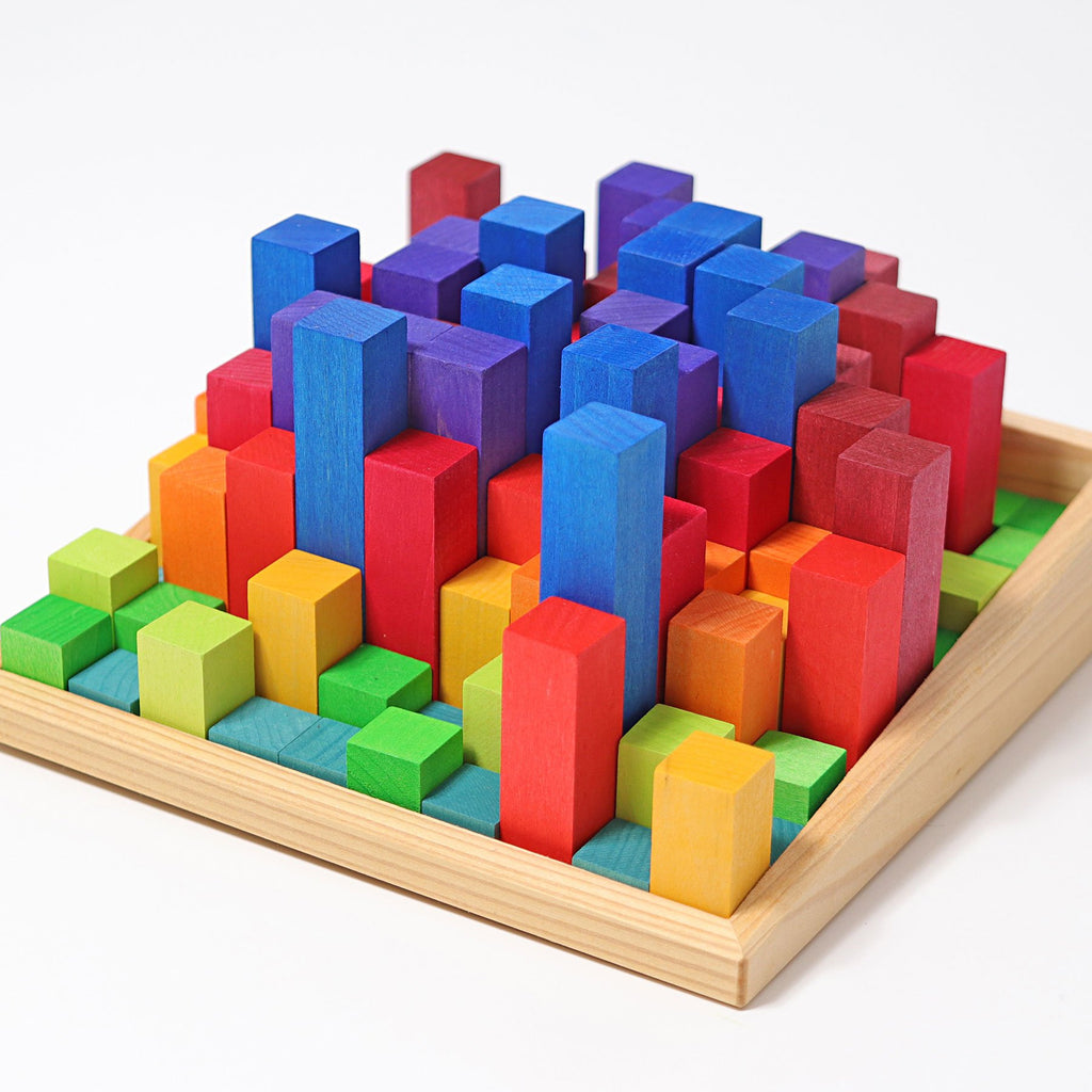 Grimm's 100 Stepped Blocks - Small