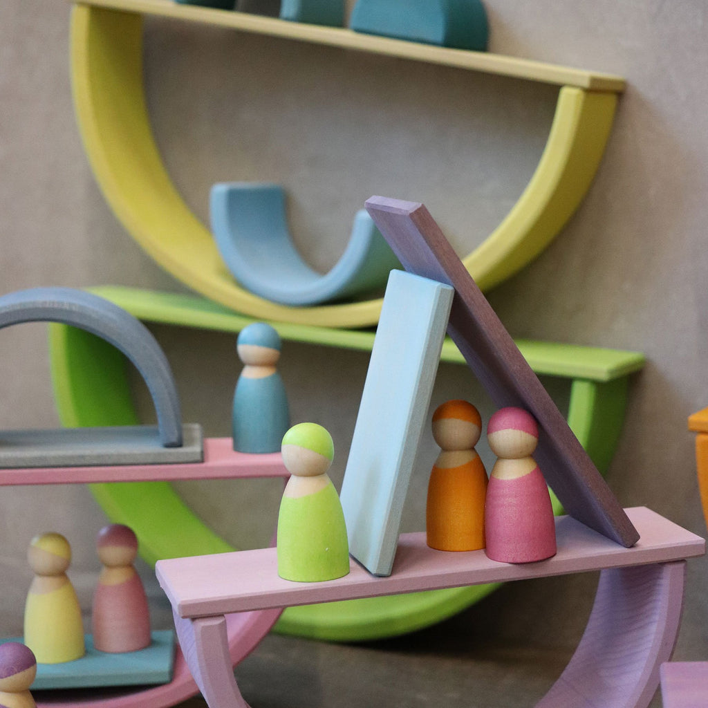 Grimm's Building Boards Pastel - Grimm's Spiel and Holz Design - The Creative Toy Shop