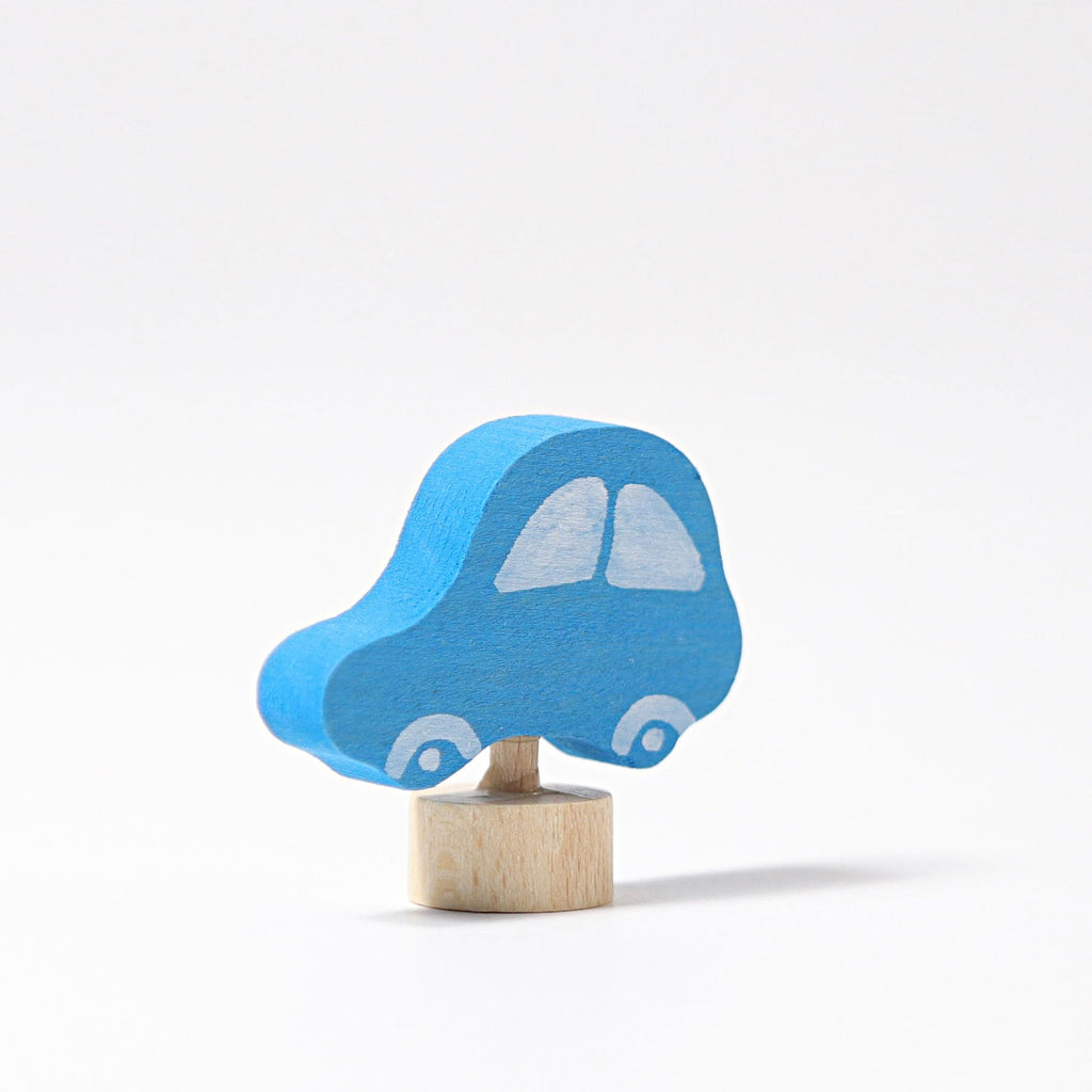 Grimm's Decorative Figure - Blue Car - Grimm's Spiel and Holz Design - The Creative Toy Shop