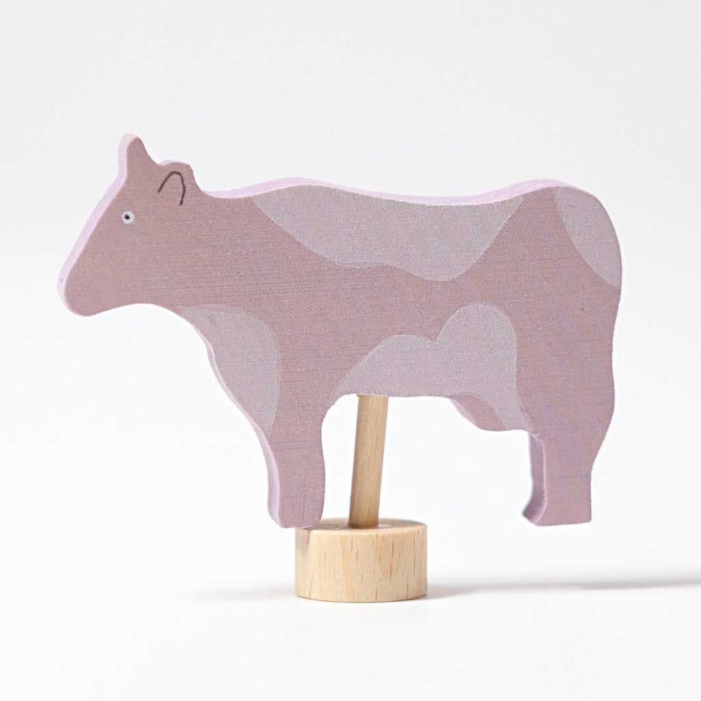 Grimm's Decorative Figure - Cow with Flecks - Grimm's Spiel and Holz Design - The Creative Toy Shop