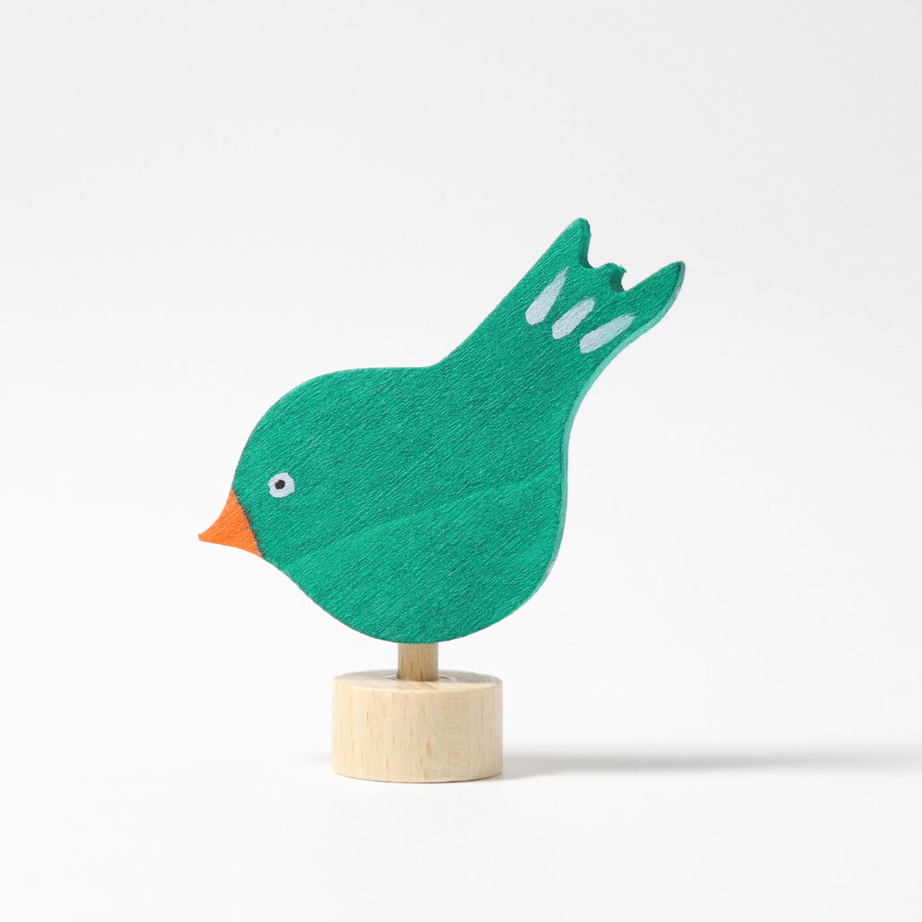 Grimm's Decorative Figure - Pecking Bird - Grimm's Spiel and Holz Design - The Creative Toy Shop