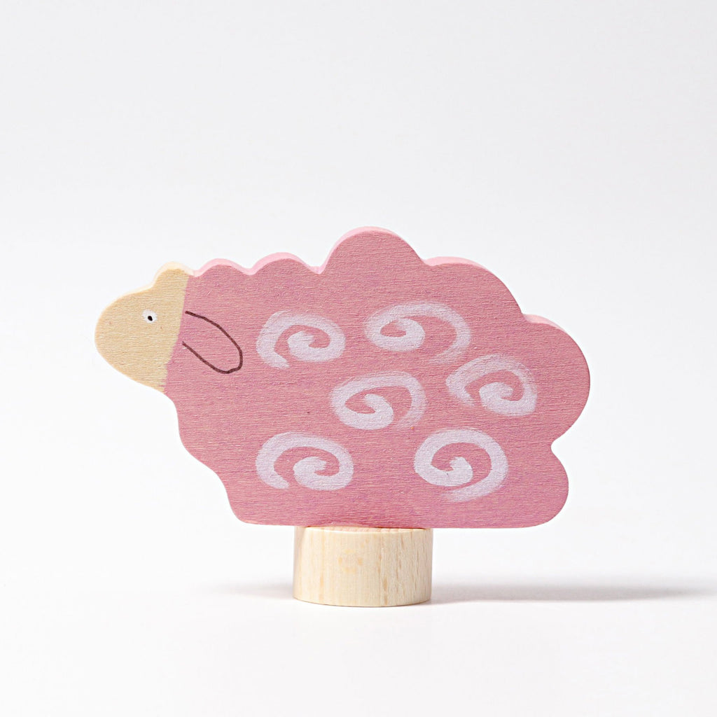 Grimm's Decorative Figure - Pink Sheep - Grimm's Spiel and Holz Design - The Creative Toy Shop