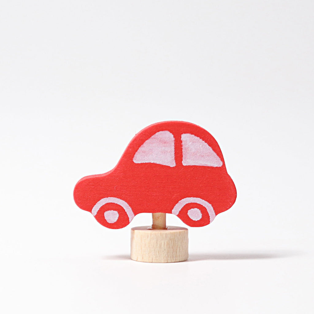 Grimm's Decorative Figure - Red Car - Grimm's Spiel and Holz Design - The Creative Toy Shop