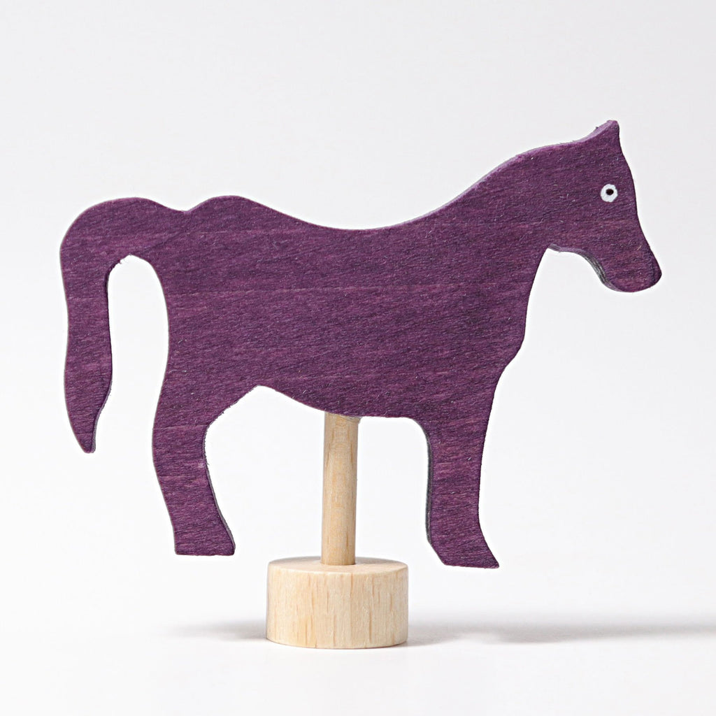 Grimm's Decorative Figure - Red Horse - Grimm's Spiel and Holz Design - The Creative Toy Shop