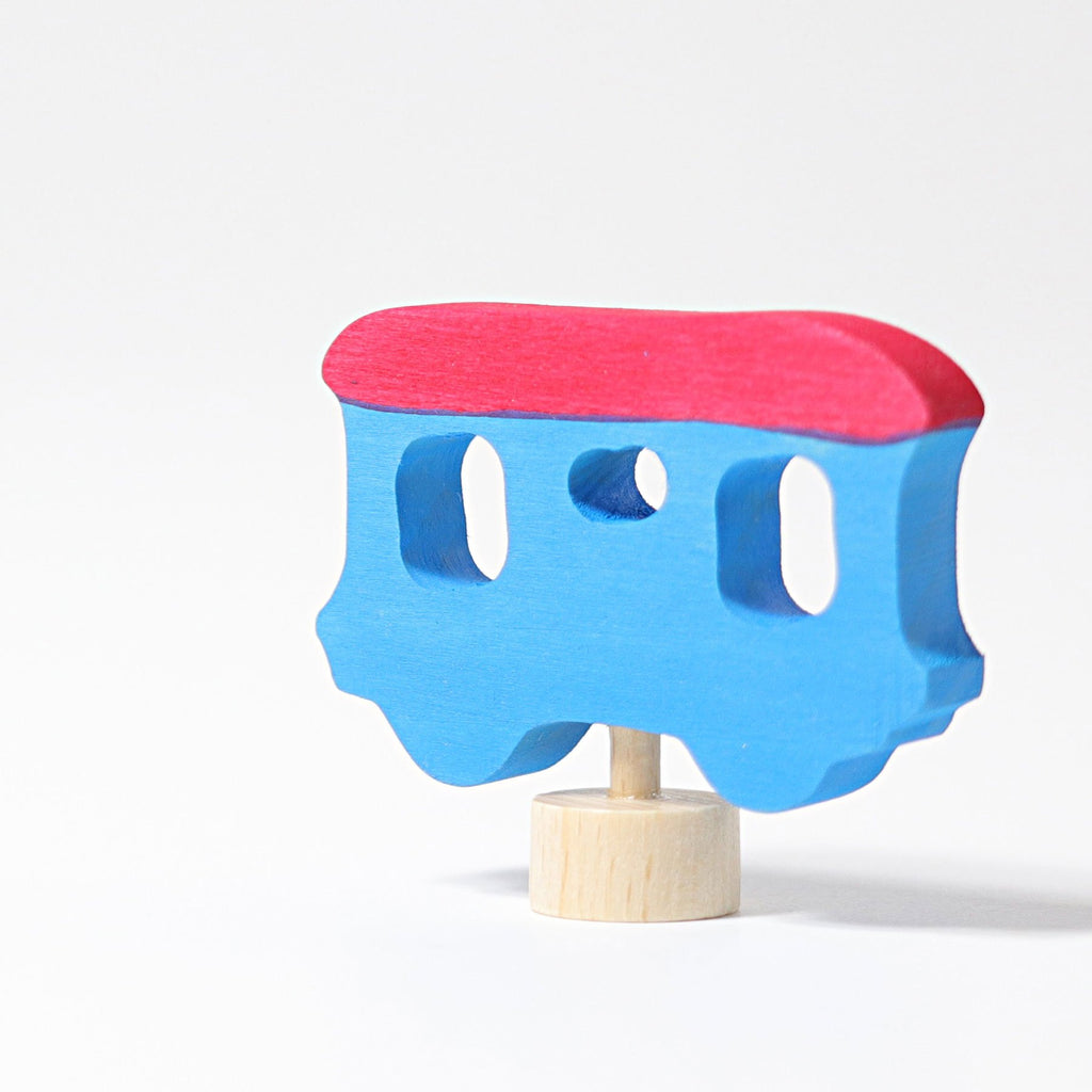 Grimm's Decorative Figure - Train Carriage Blue - Grimm's Spiel and Holz Design - The Creative Toy Shop