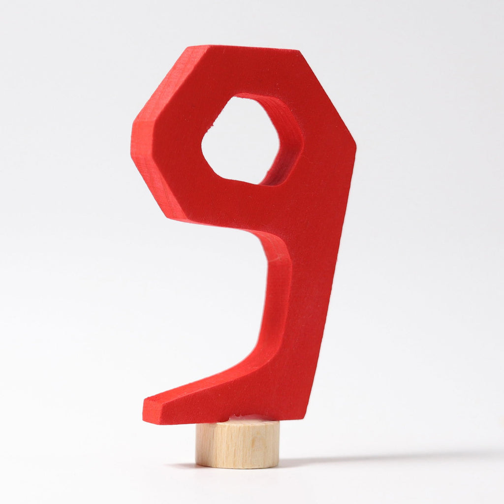 Grimm's Decorative Number - Nine - Grimm's Spiel and Holz Design - The Creative Toy Shop