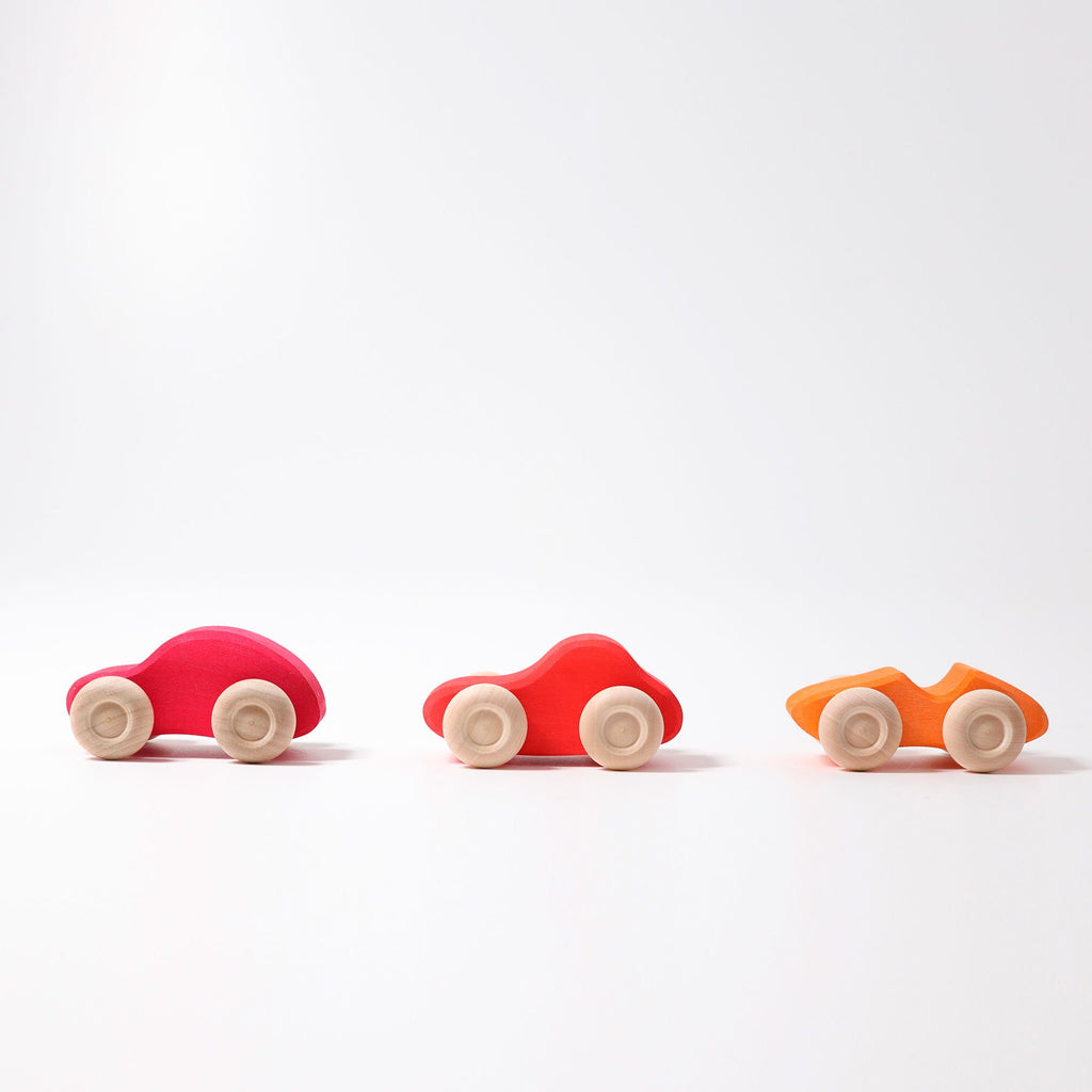 Grimm's Individual Coloured Wooden Cars - Grimm's Spiel and Holz Design - The Creative Toy Shop