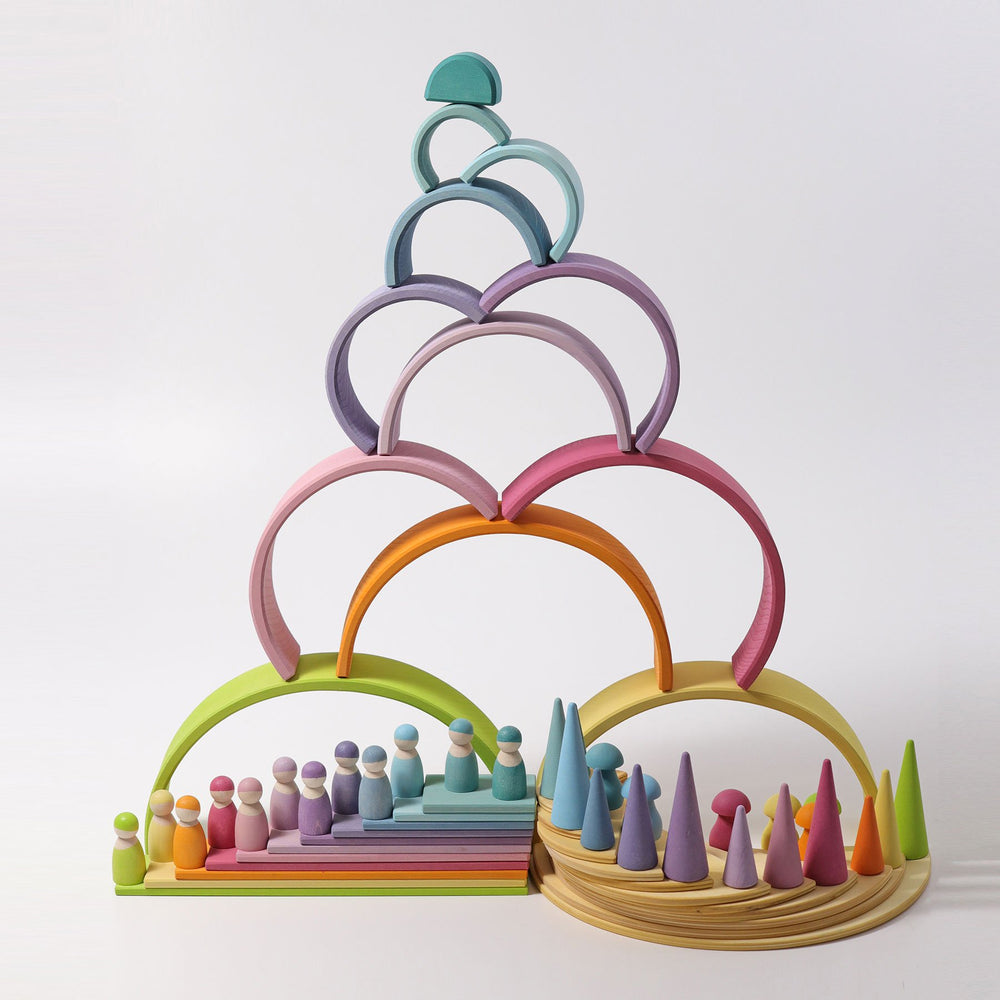 Grimm's Large Semi Circles - Natural - Grimm's Spiel and Holz Design - The Creative Toy Shop