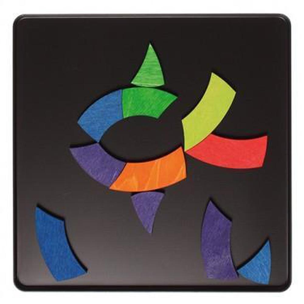Grimm's Magnet Colour Circle Goethe Puzzle-Wooden puzzles-The Creative Toy Shop
