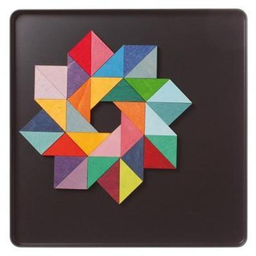 Grimm's Magnet Triangle Puzzle - Grimm's Spiel and Holz Design - The Creative Toy Shop