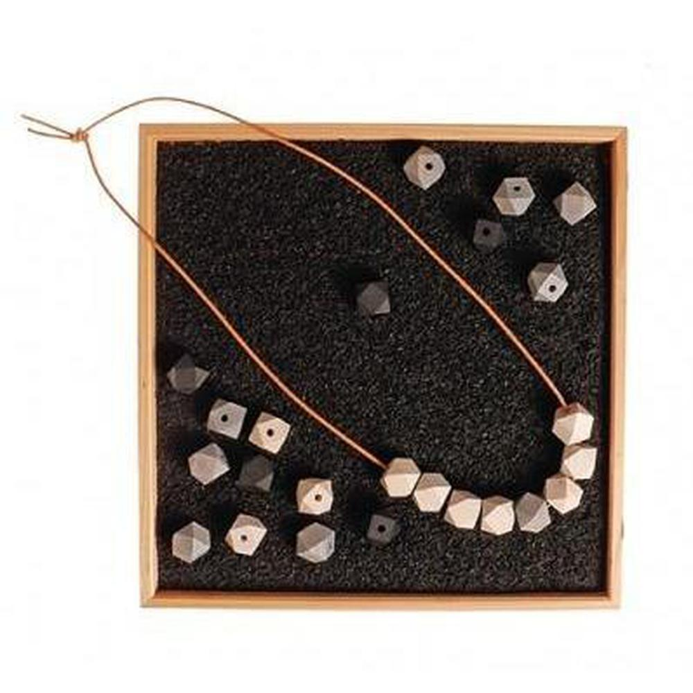 Grimm's Natural Wooden Gem Necklace-Threading set-The Creative Toy Shop