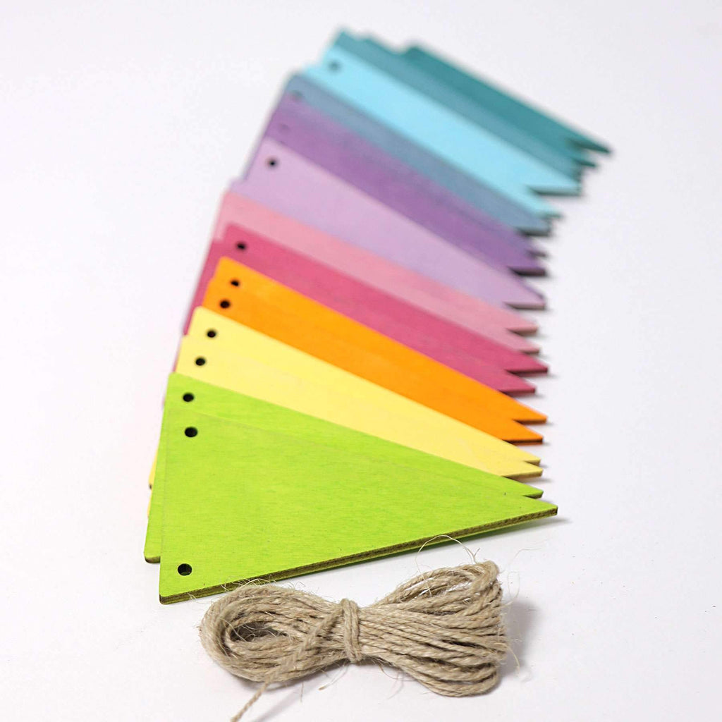Grimm's Pastel Pennant Banner - Grimm's Spiel and Holz Design - The Creative Toy Shop