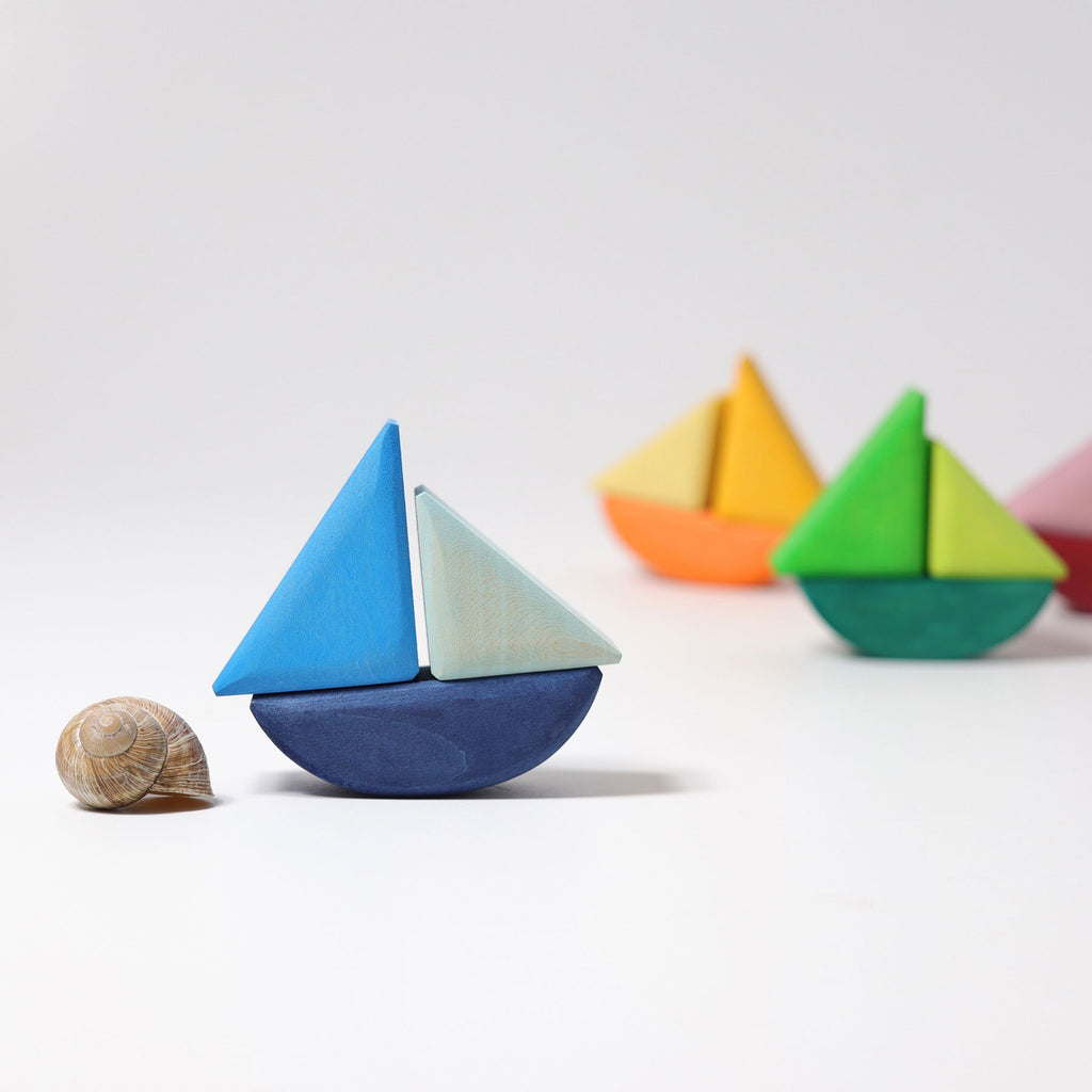 Grimm's Rolling Boats-The Creative Toy Shop