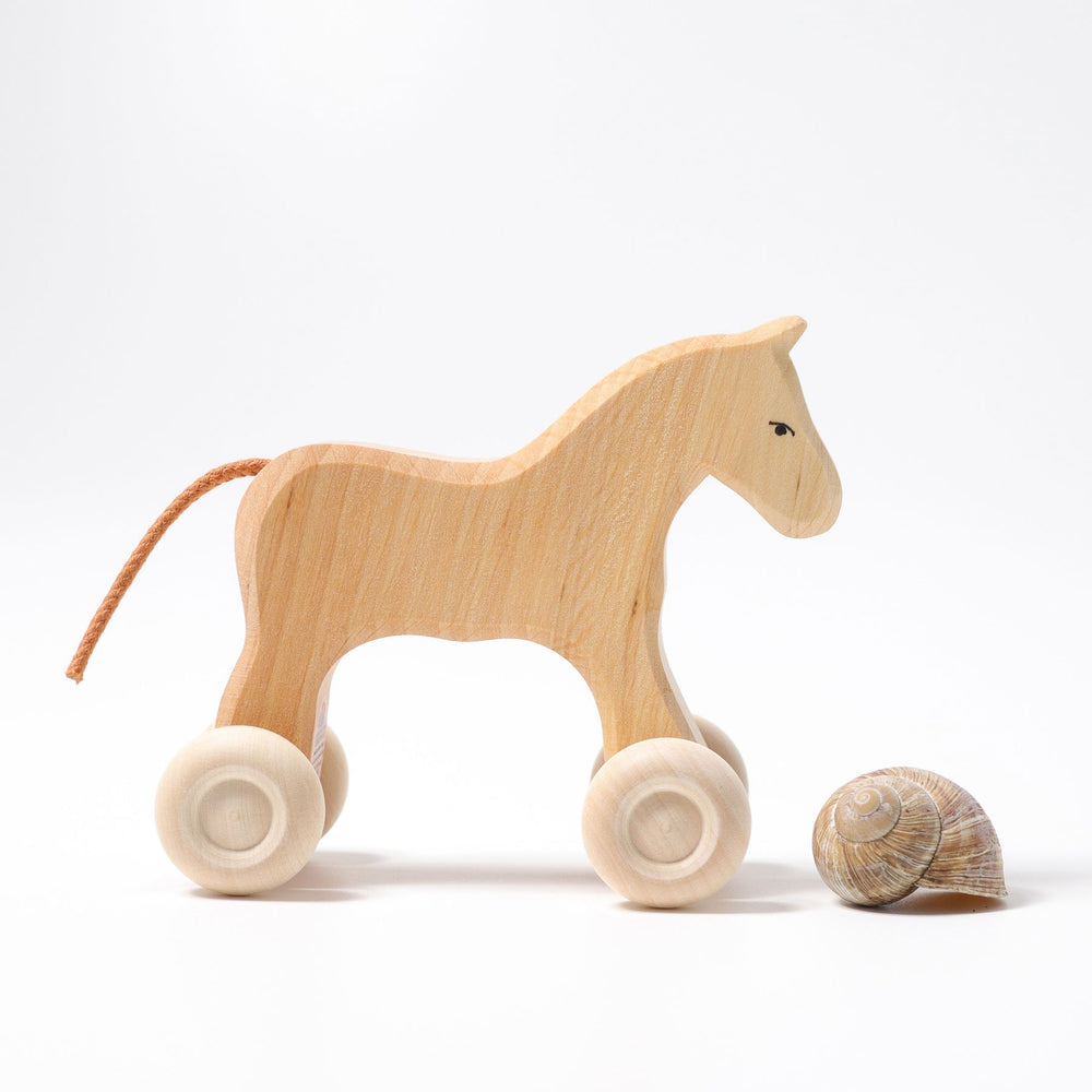 Grimm's Small Horse on Wheels - Grimm's Spiel and Holz Design - The Creative Toy Shop