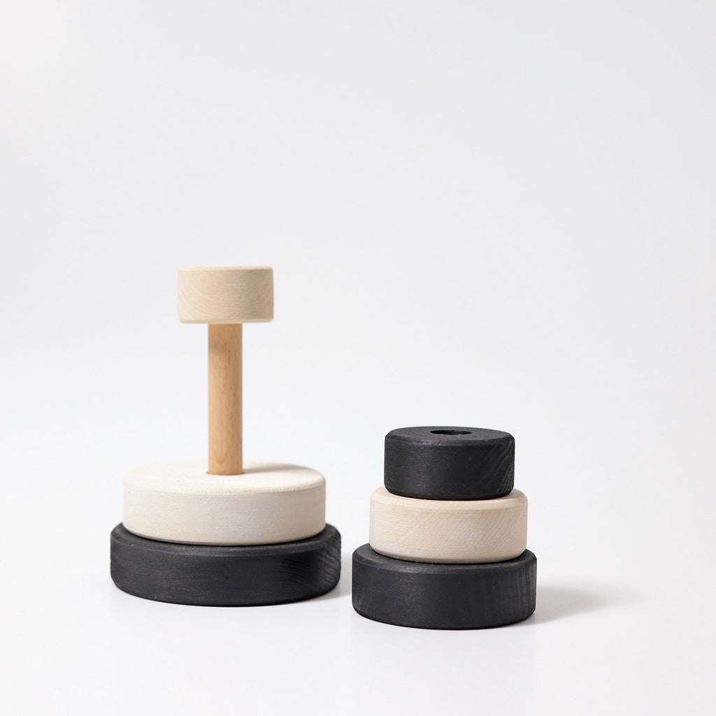 Grimm's Small Stacking Tower - Monochrome - Grimm's Spiel and Holz Design - The Creative Toy Shop