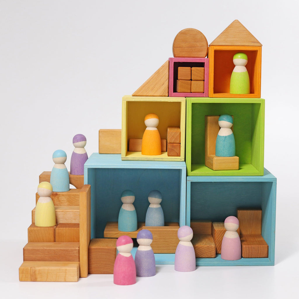 Grimm's Stacking Boxes - Pastel-The Creative Toy Shop