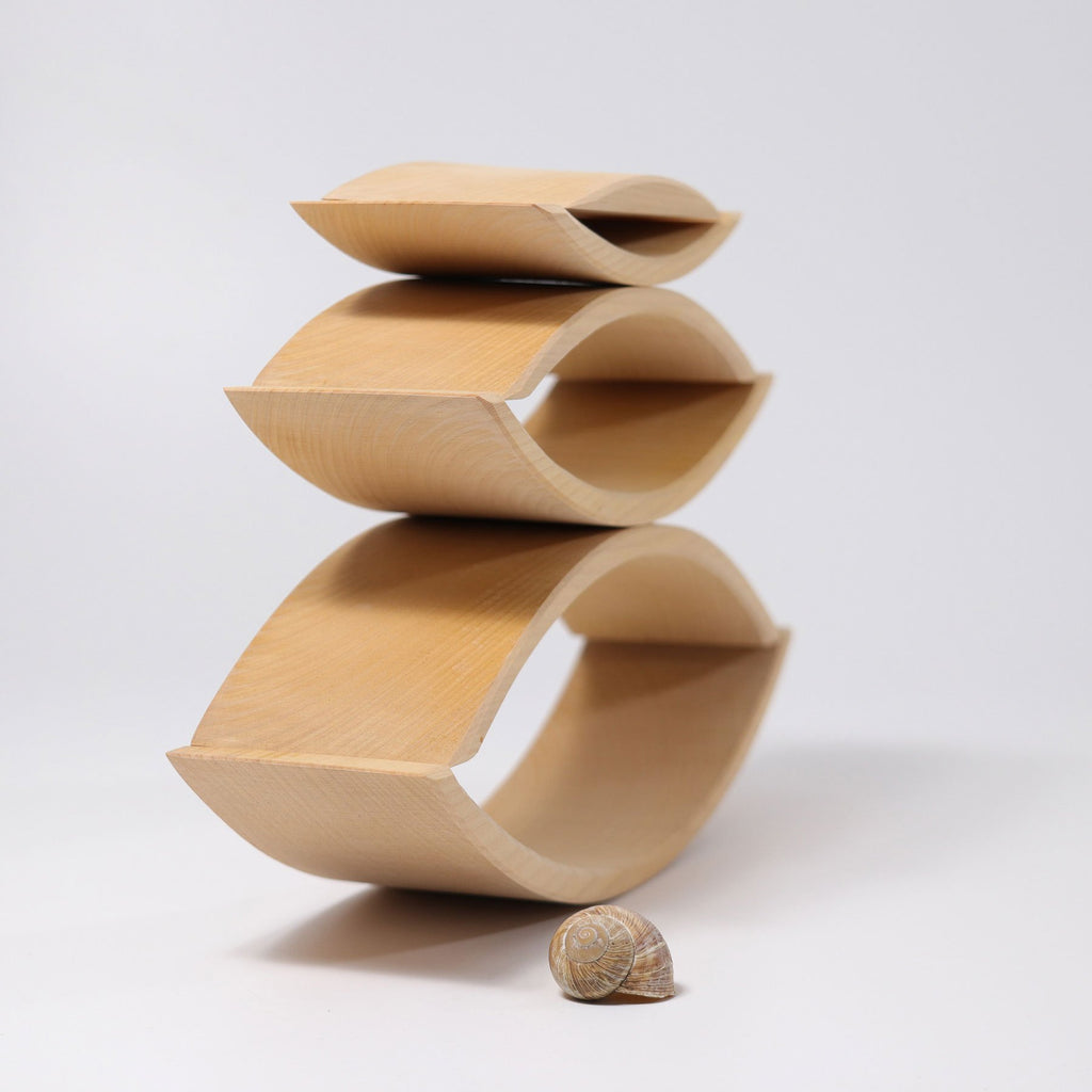 Grimm's Stacking Bridge - Natural - Grimm's Spiel and Holz Design - The Creative Toy Shop