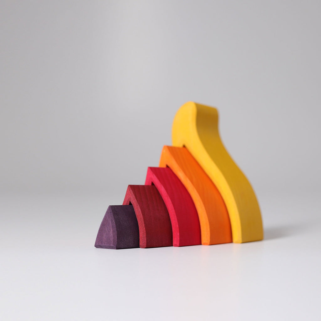 Grimm's Stacking Fire Small - Grimm's Spiel and Holz Design - The Creative Toy Shop