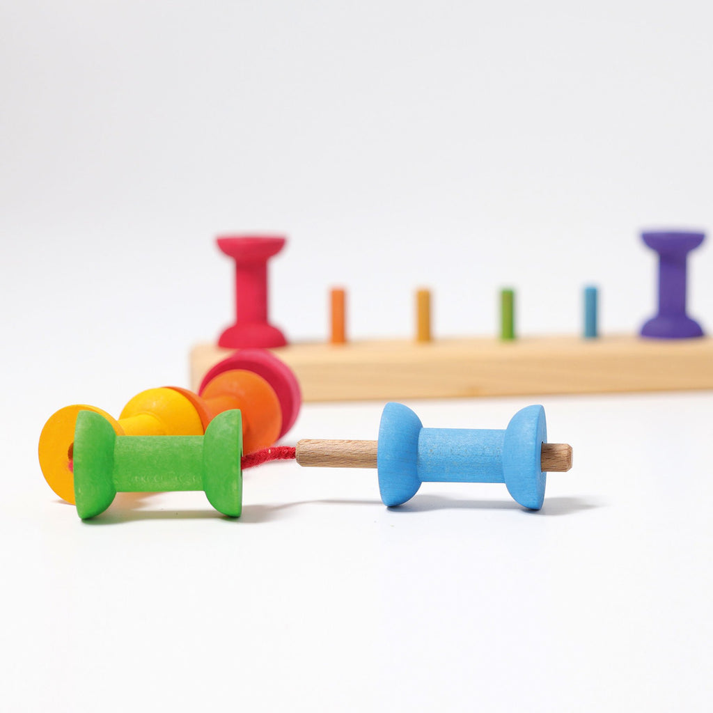 Grimm's Stacking Game Small Rainbow Bobbins