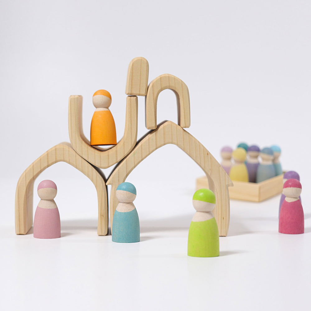 Grimm's Stacking House - Natural - Grimm's Spiel and Holz Design - The Creative Toy Shop