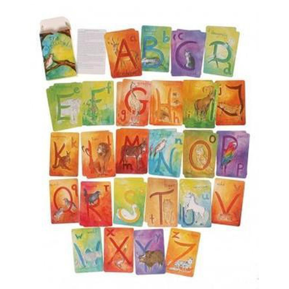 Grimm's Waldorf Alphabet Flashcards-The Creative Toy Shop