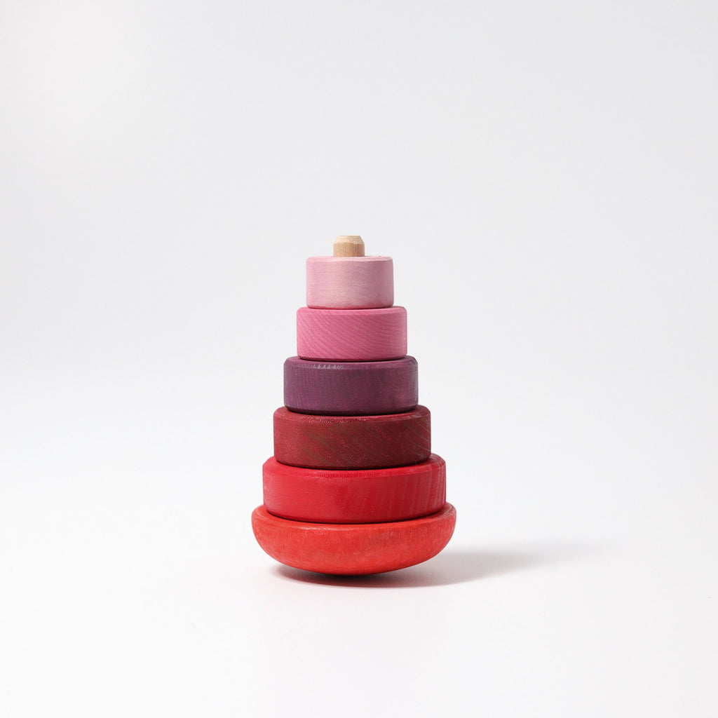 Grimm's Wobbly Conical Tower Pink-The Creative Toy Shop