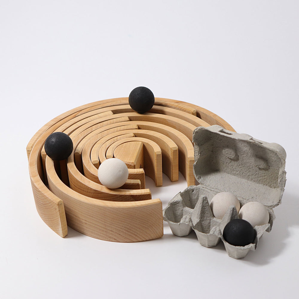 Grimm's Wooden Balls - Monochrome - Grimm's Spiel and Holz Design - The Creative Toy Shop