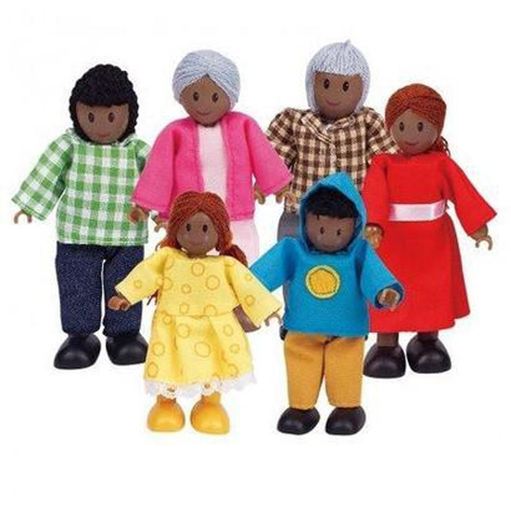Hape African Family Set of 6-Dolls-The Creative Toy Shop