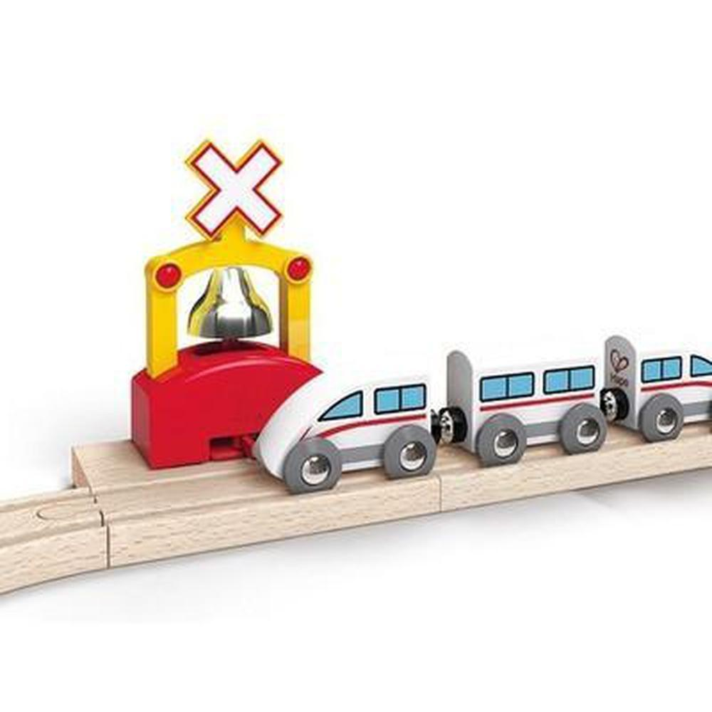 Hape Automatic Train Bell Signal-Trains-The Creative Toy Shop