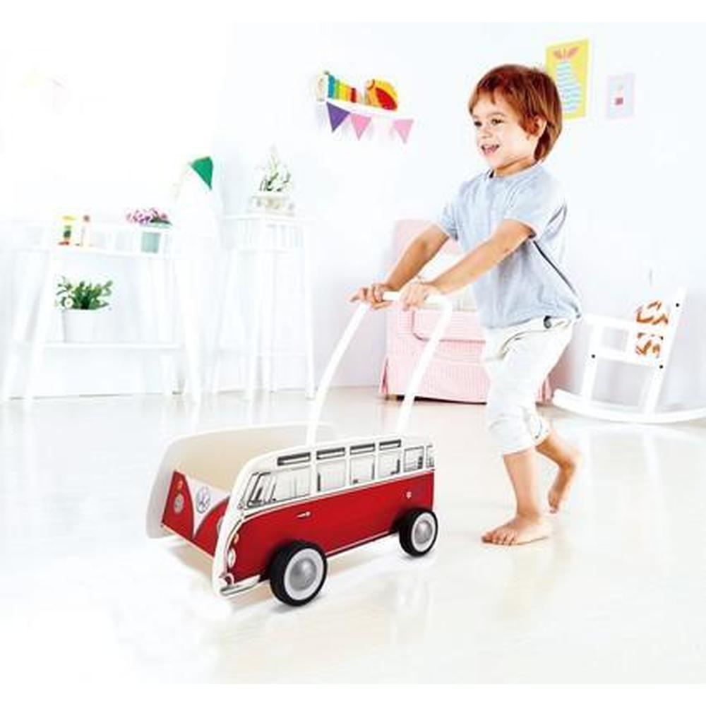 Hape Classic Walker Bus - Red-Walkers-The Creative Toy Shop