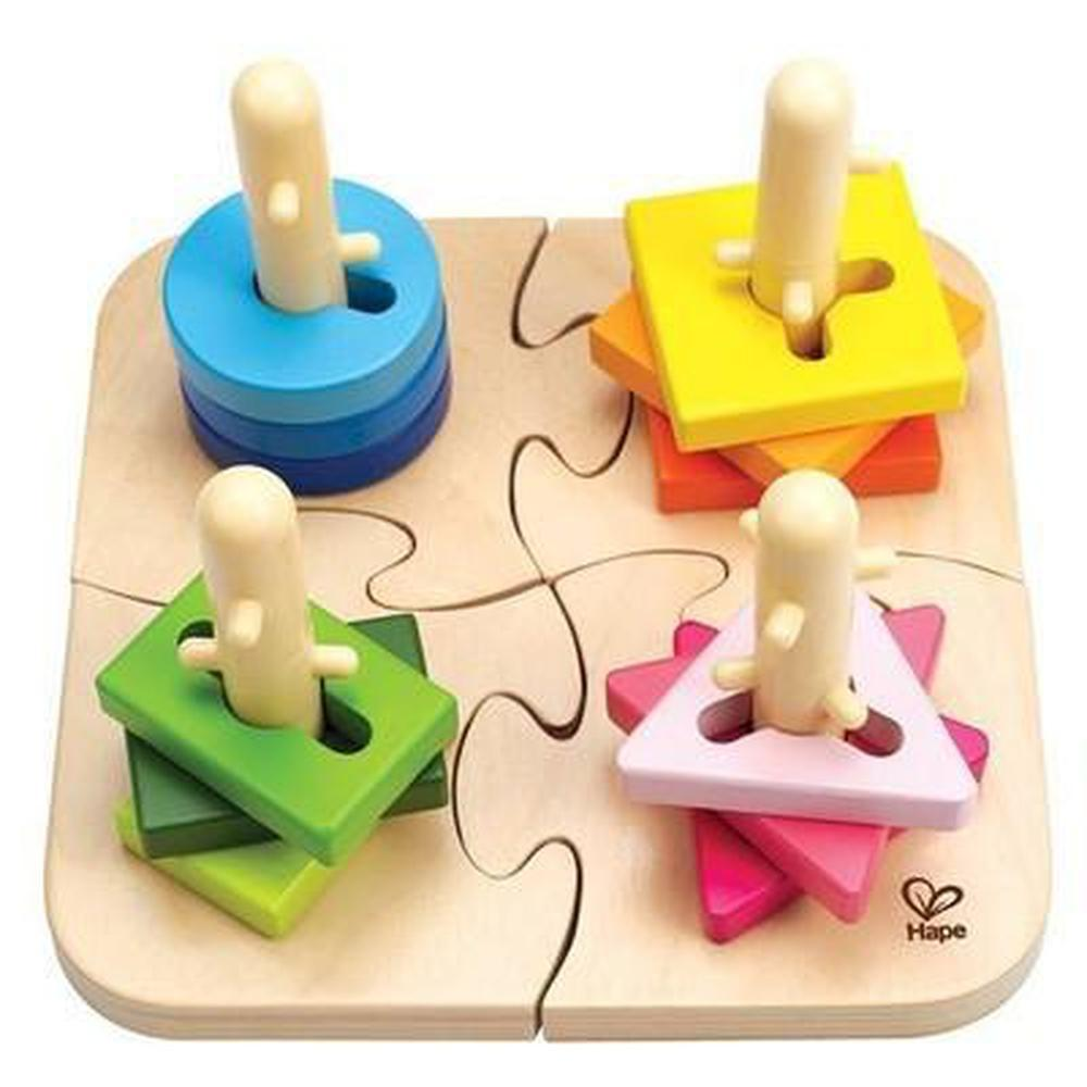 Hape Creative Peg Puzzle-Wooden puzzles-The Creative Toy Shop