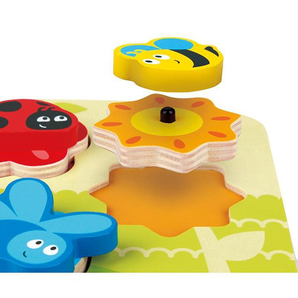 Hape Dynamic Insect Puzzle-Wooden Puzzles-The Creative Toy Shop