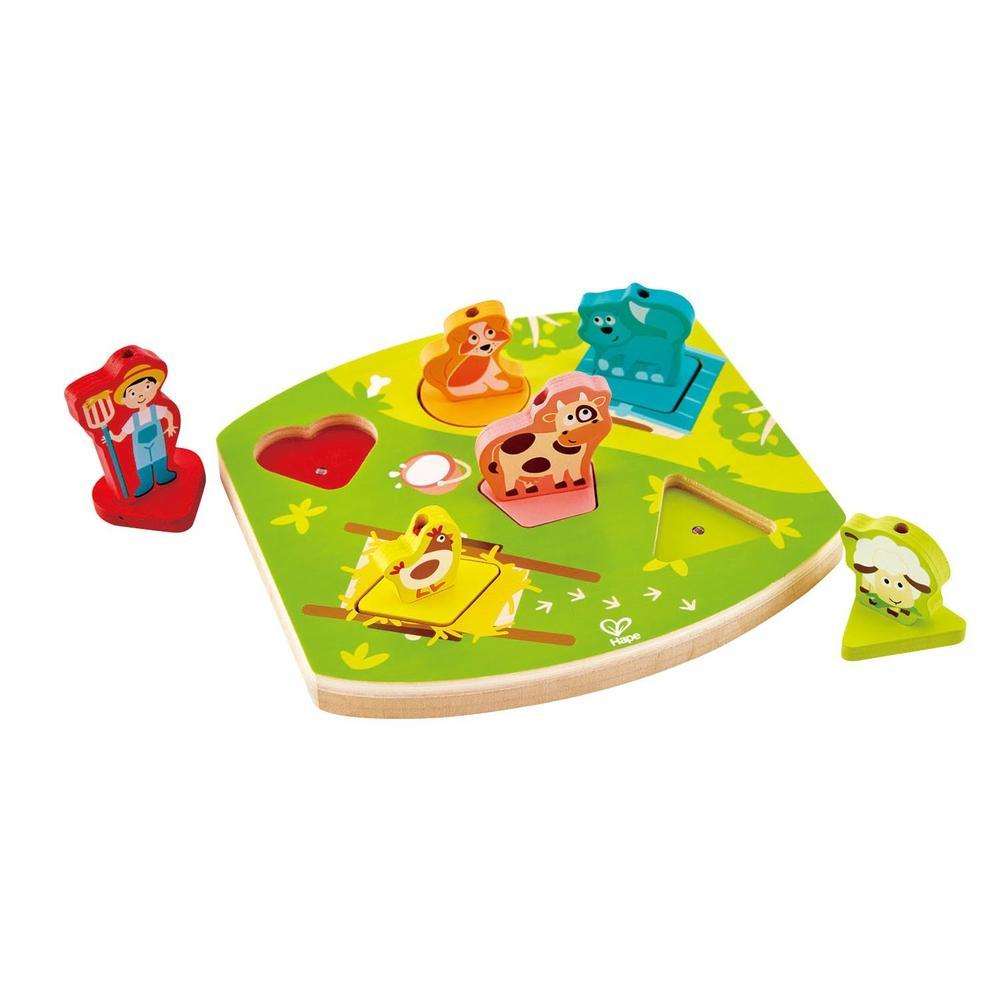 Hape Farmyard Sound Puzzle-Wooden Puzzles-The Creative Toy Shop