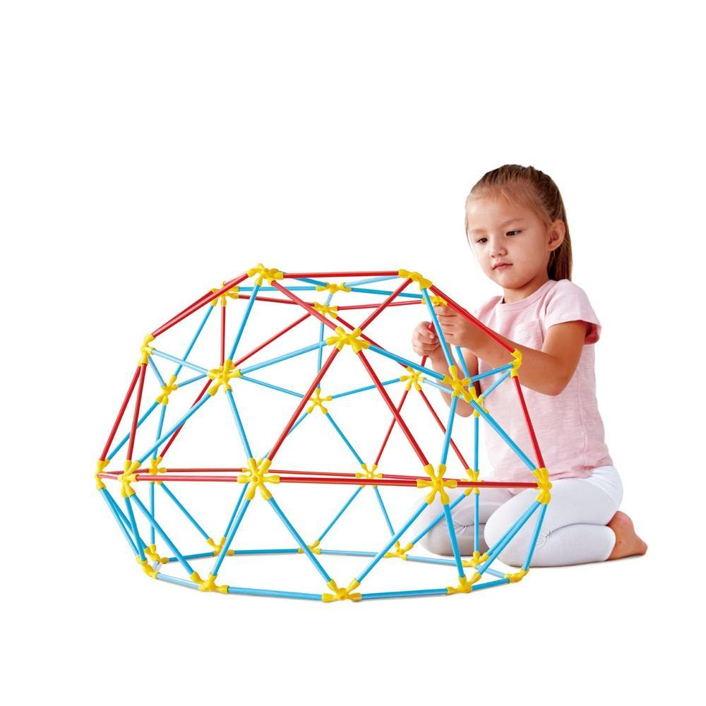 Hape Flexistix Geodesic Structures 177 Pieces-Wooden sets-The Creative Toy Shop
