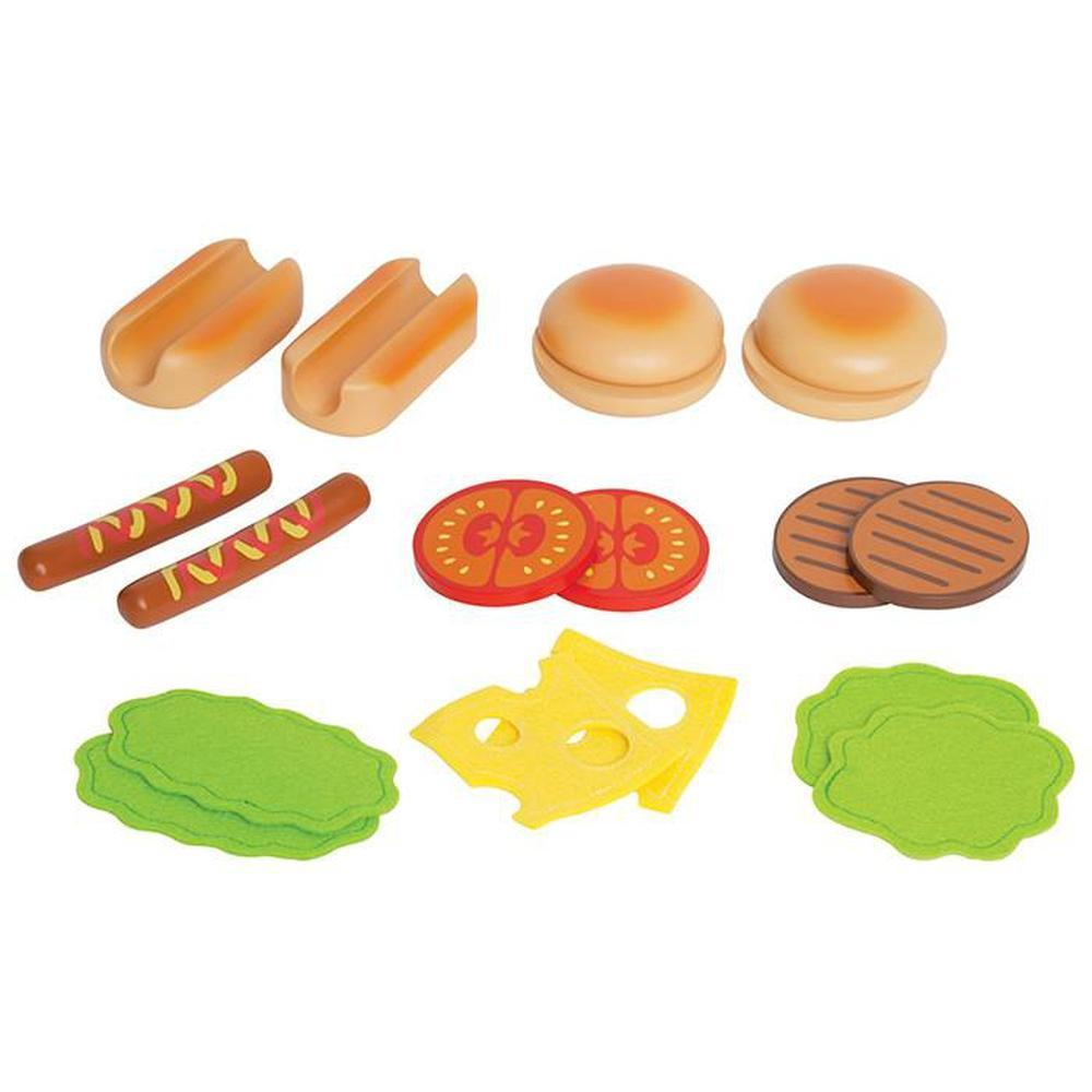 Hape Hamburgers and Hotdogs-Cooking-The Creative Toy Shop