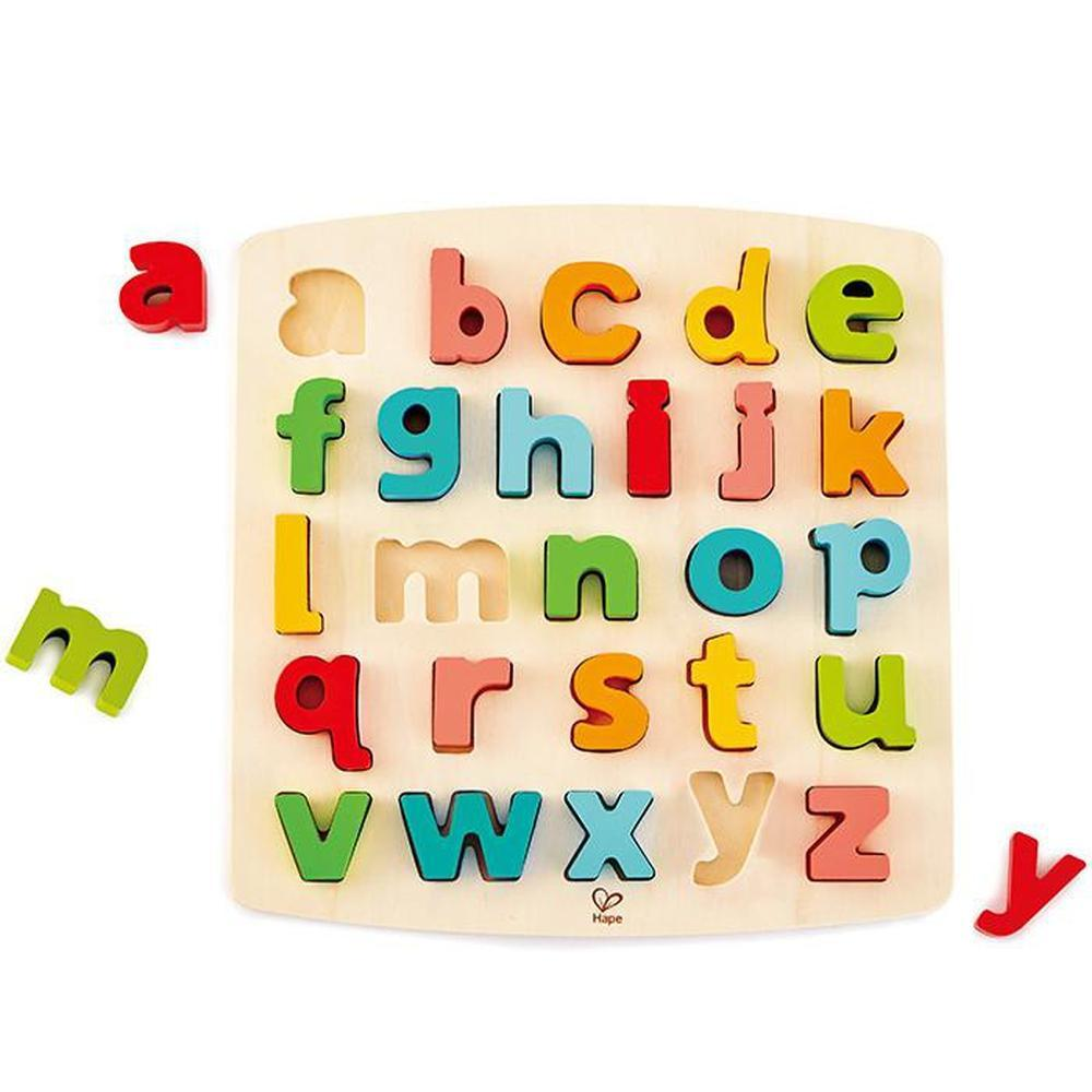 Hape Lowercase Alphabet Puzzle-Wooden Puzzles-The Creative Toy Shop