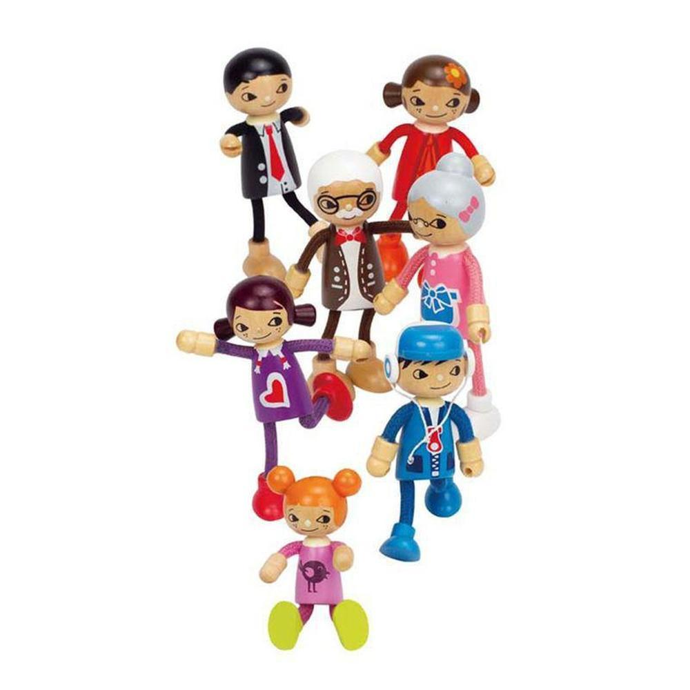 Hape Modern Family - Daughter-Dolls-The Creative Toy Shop