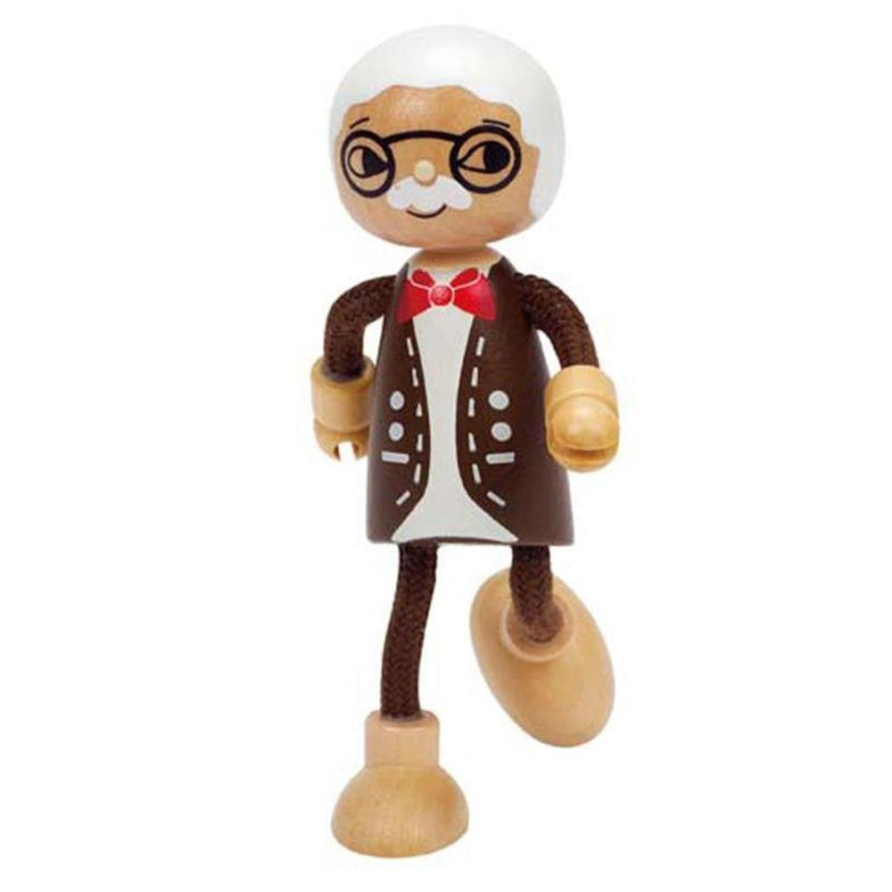 Hape Modern Family - Grandpa-Dolls-The Creative Toy Shop