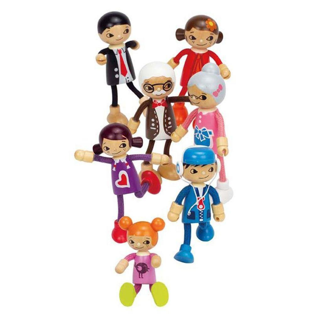 Hape Modern Family - Mum-Dolls-The Creative Toy Shop