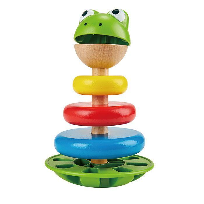 Hape Mr Frog Stacking Rings - Hape - The Creative Toy Shop