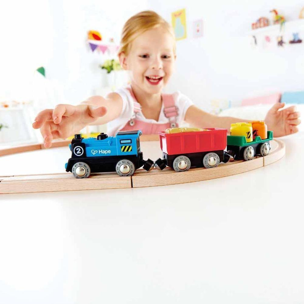 Hape Rail Battery Powered Rolling Stock Set - Hape Rail - The Creative Toy Shop