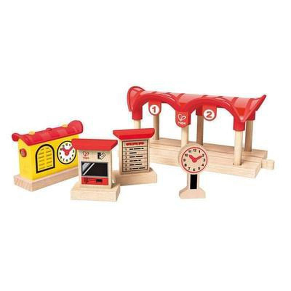 Hape Record Listen Light Railway Station-Train-The Creative Toy Shop