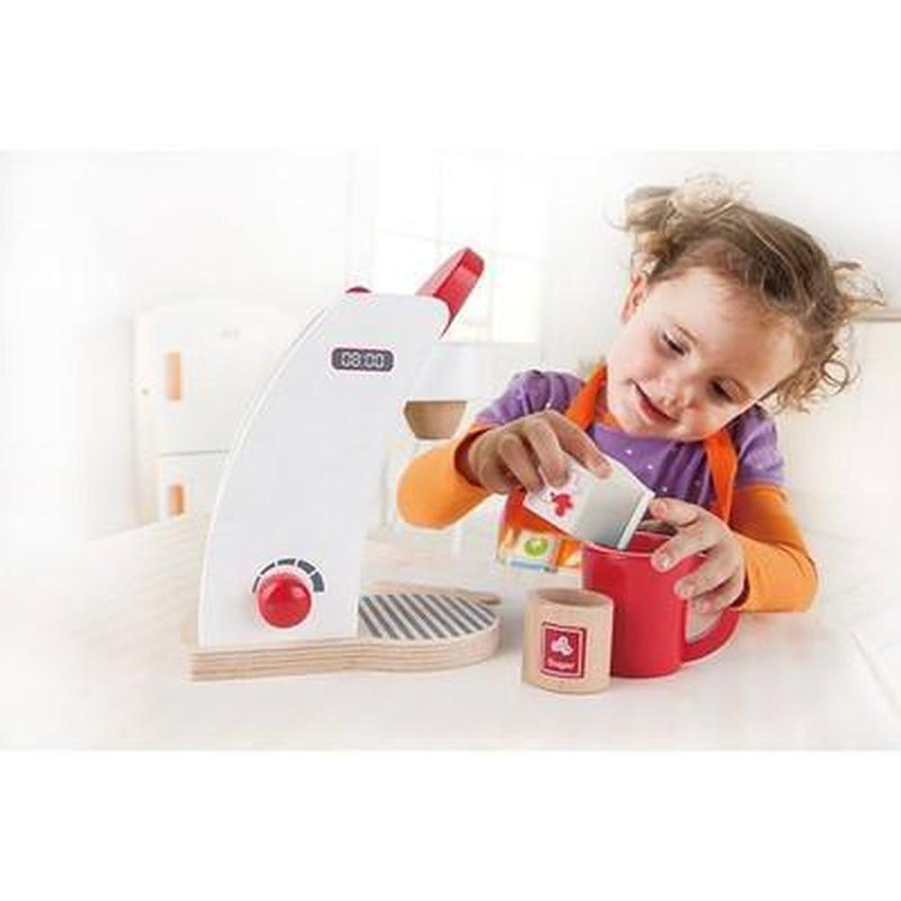 Hape Rise N Shine Coffee Maker - White - Hape - The Creative Toy Shop