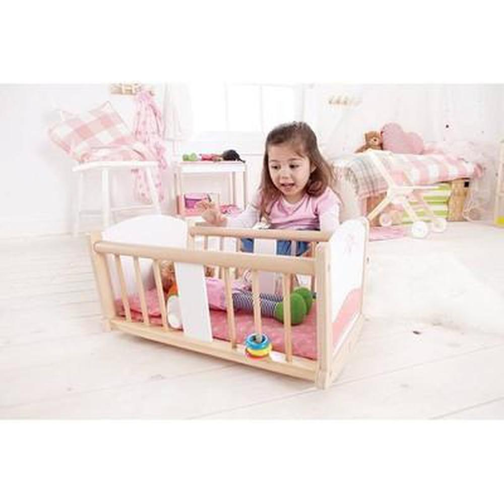 Hape Rock-A-Bye Baby Cradle - Hape - The Creative Toy Shop