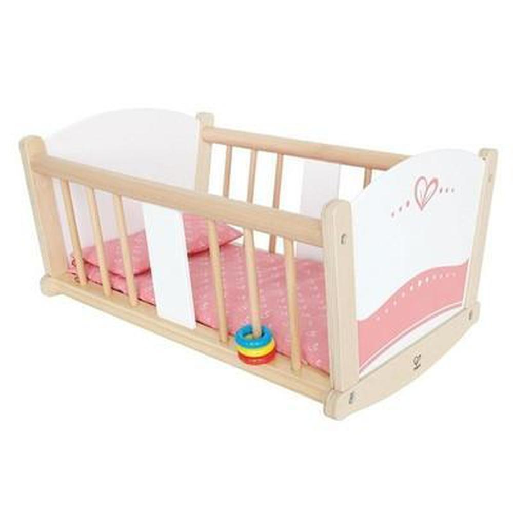 Hape Rock-A-Bye Baby Cradle-Cradles-The Creative Toy Shop