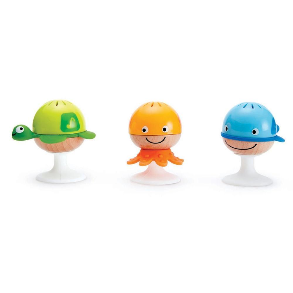 Hape Stay Put Rattles Set of 3-Rattles-The Creative Toy Shop